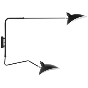 Thumbnail of Modway Furniture - View Double Fixture Wall Lamp, Black