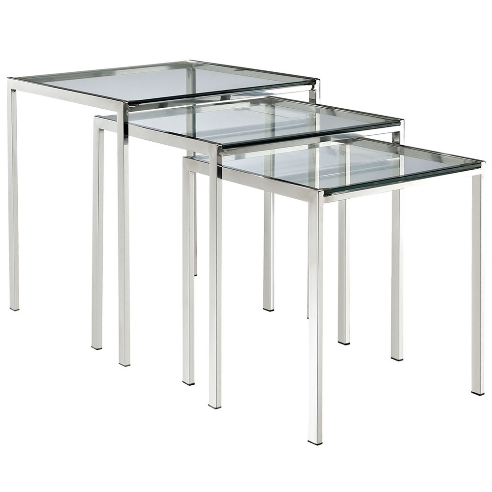 Modway Furniture - Nimble Nesting Table, Silver