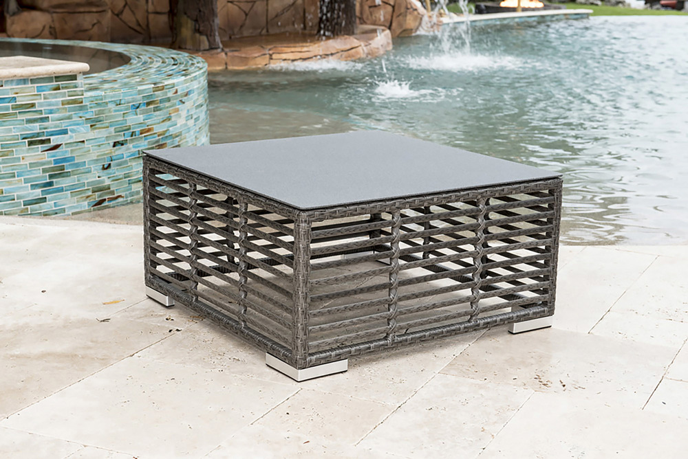Pelican Reef - Square Coffee Table Woven Top