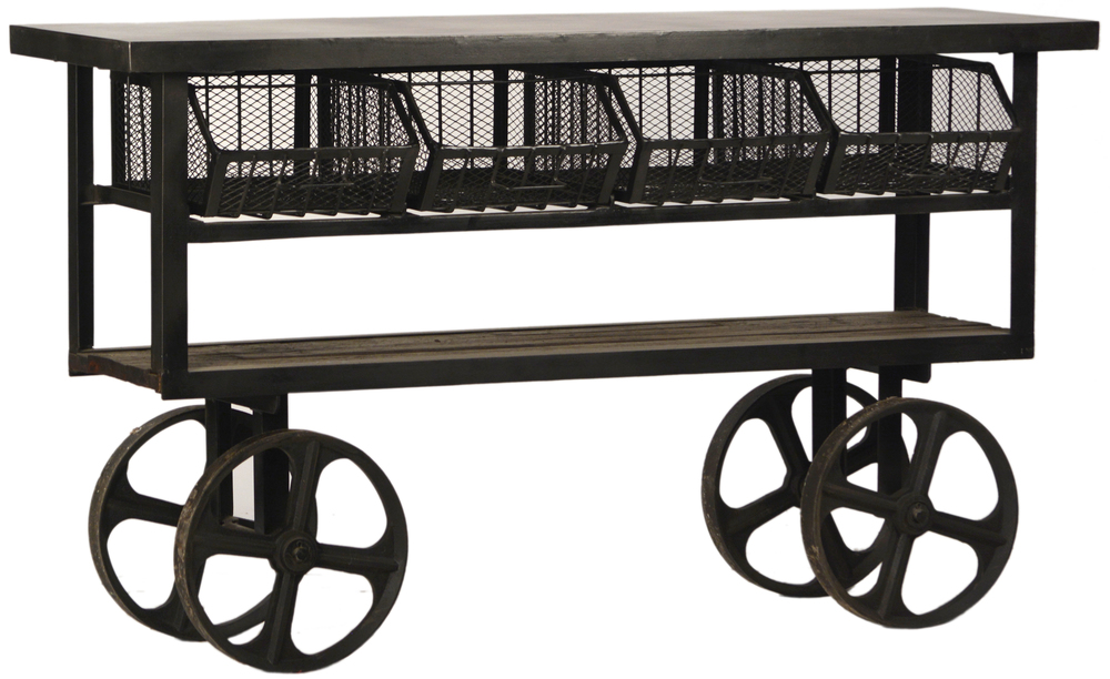 Dovetail Furniture - Industrial Trolley