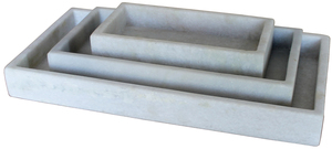 Thumbnail of Dovetail Furniture - White Marble Trays, Set/3