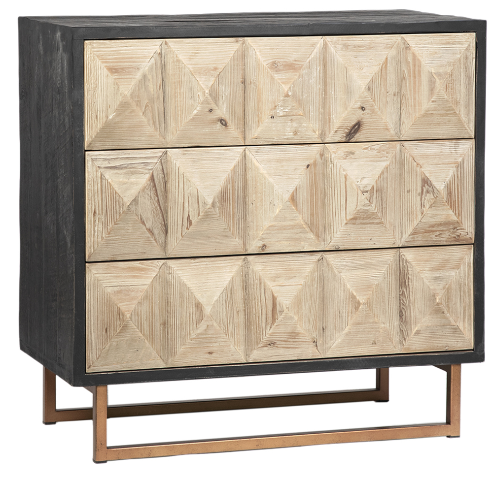 Dovetail Furniture - Anslow Three Drawer Chest