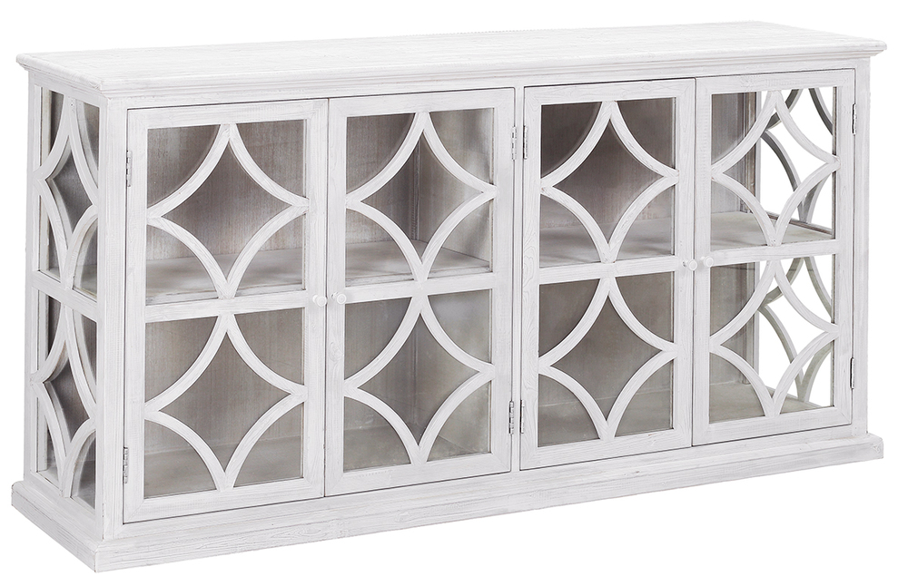 Dovetail Furniture - Rivera Sideboard with All Glass