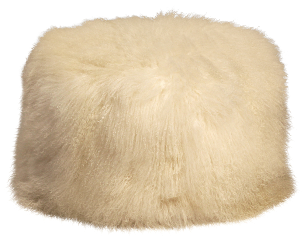 Dovetail Furniture - Mohair Pouf