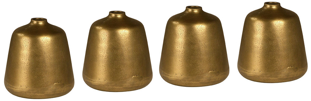 DOVETAIL FURNITURE - Brass Bottle, Set/4