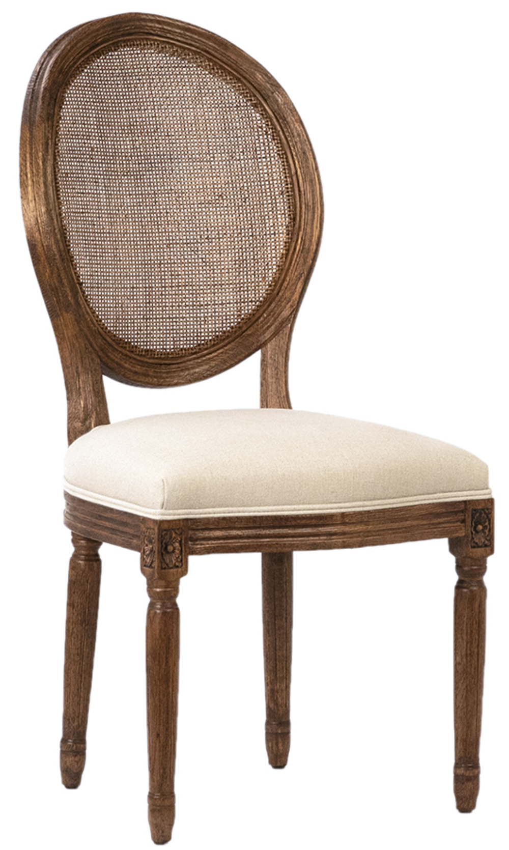 Dovetail Furniture - Alice Dining Chair with Rattan Back