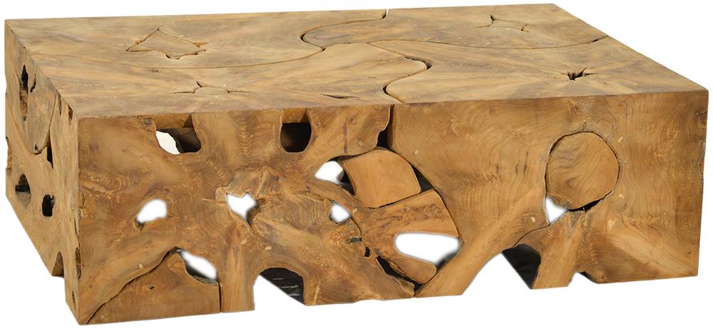 Dovetail Furniture - Block Teak Root Coffee Table