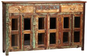 Thumbnail of Dovetail Furniture - Three Drawer Glass Door Sideboard