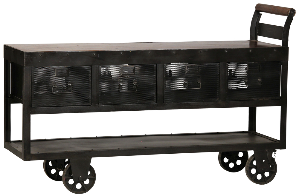 Dovetail Furniture - Hayes Trolley Console Table