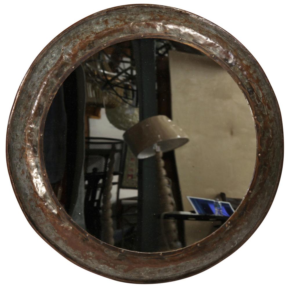 Dovetail Furniture - Round Metal Mirror