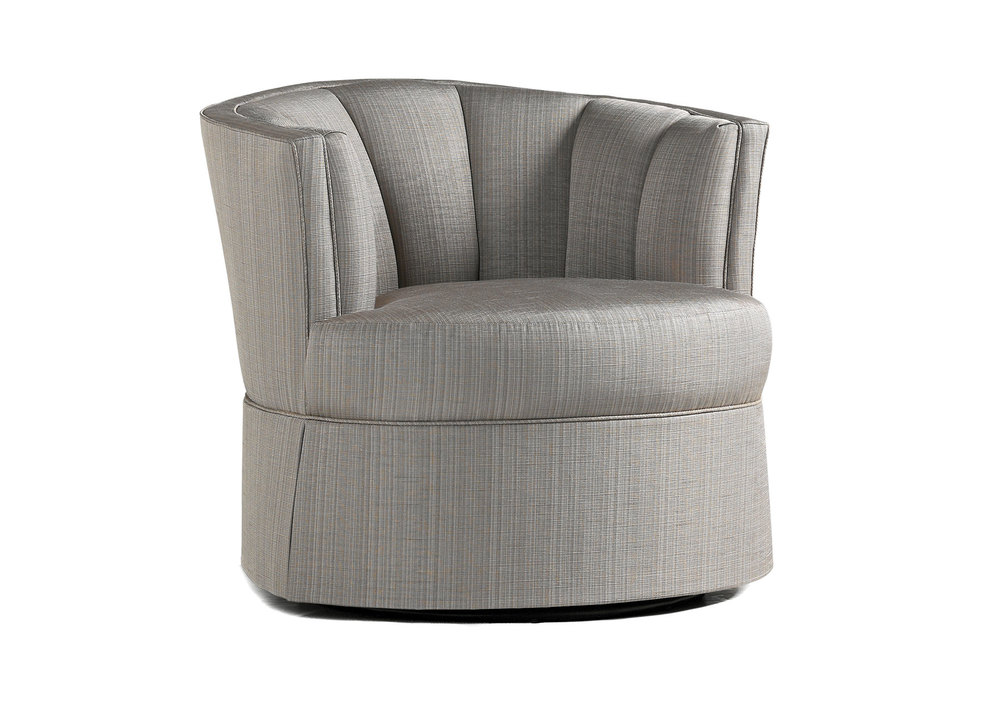 Jessica Charles - Jude Swivel Chair with Skirt
