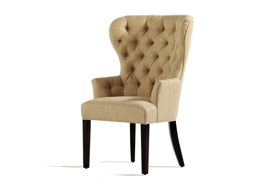 Jessica Charles - Garbo Tufted Dining Arm Chair