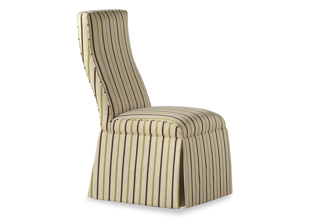 Jessica Charles - Lahaye Skirted Armless Chair