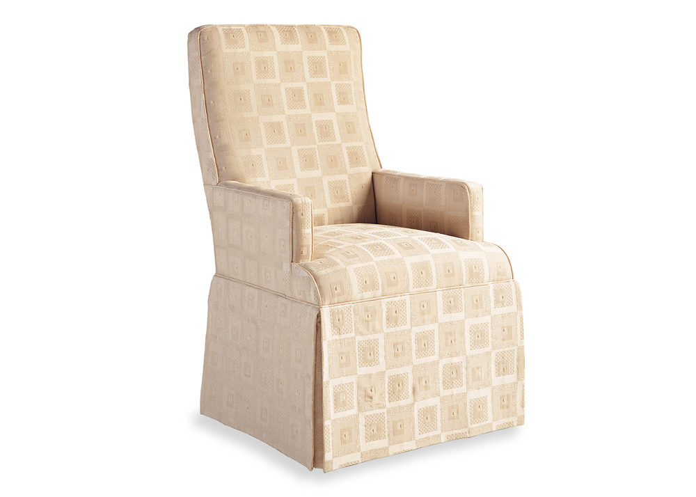 Jessica Charles - Lahaye Skirted Arm Chair