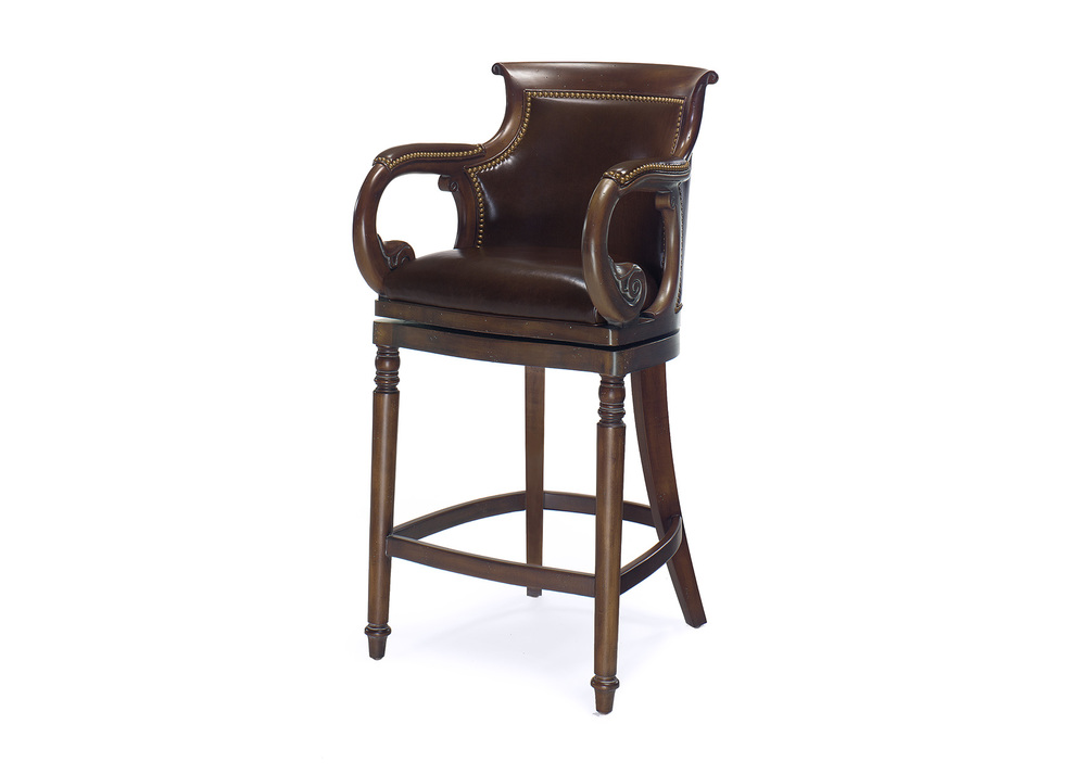Hancock and Moore - Jockey Club Swivel Bar Stool
