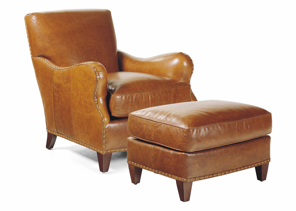 Hancock and Moore - Princeton Chair and Ottoman