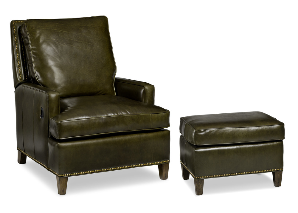 HANCOCK & MOORE - Arrington Tilt Back Chair and Ottoman