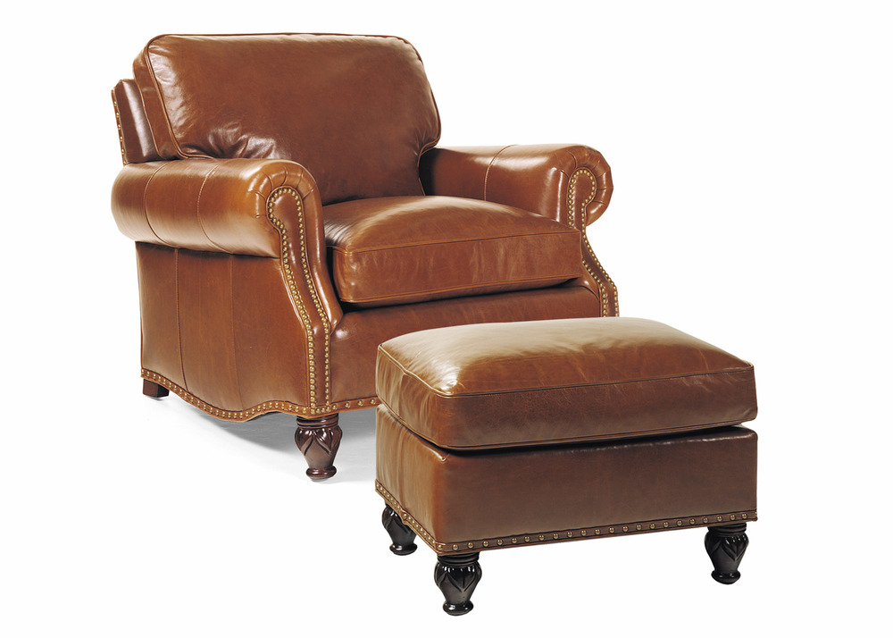 Hancock and Moore - Member Chair and Ottoman