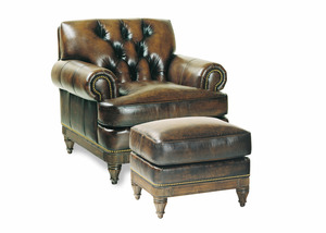 Thumbnail of Hancock and Moore - Robinson Tufted Chair and Ottoman