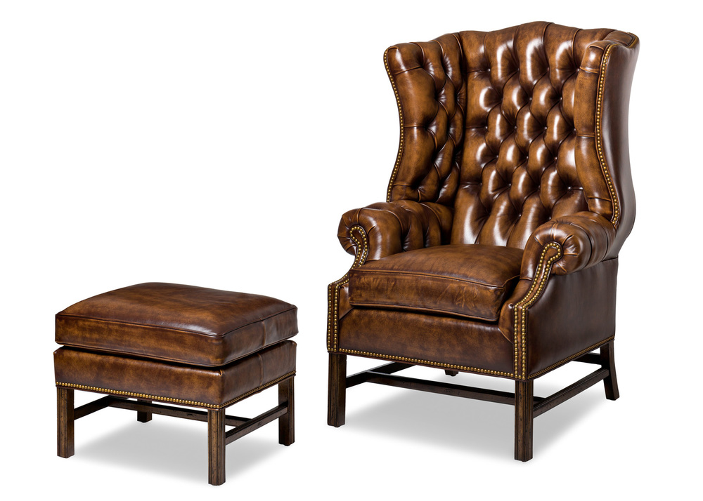 Hancock and Moore - Summerfield Chair and Ottoman