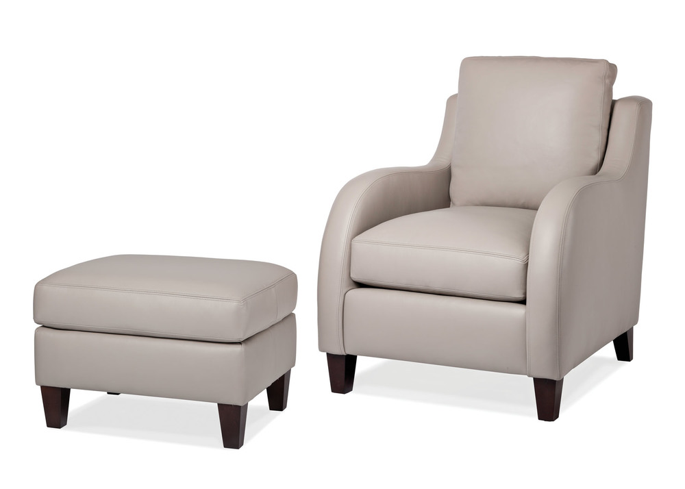 Hancock and Moore - Scoop Chair and Ottoman