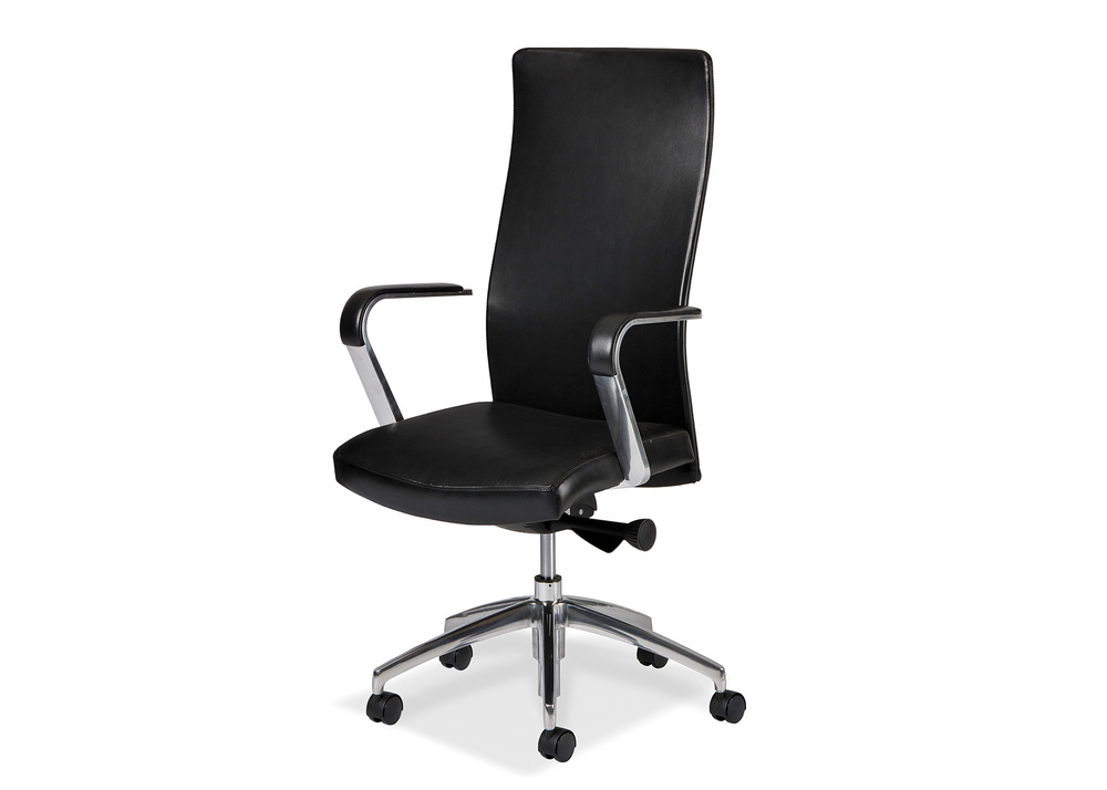 Hancock and Moore - Sleek High Back Swivel Tilt Chair