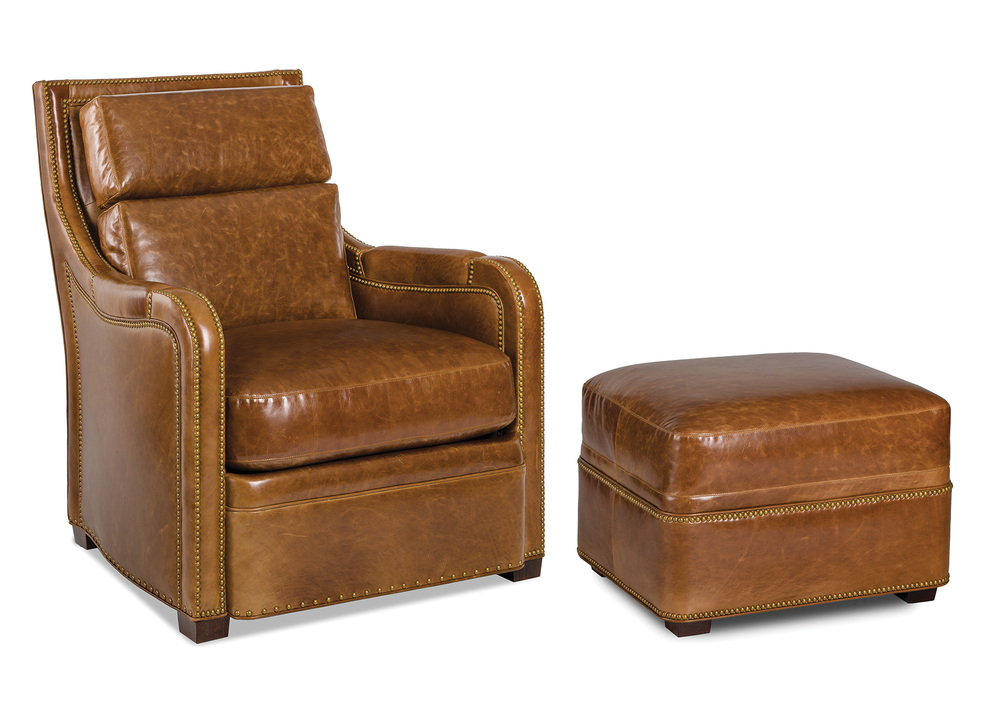 Hancock and Moore - Geoffrey Chair and Ottoman