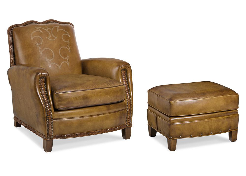 HANCOCK & MOORE - Utopia Boot Stitch Chair and Ottoman