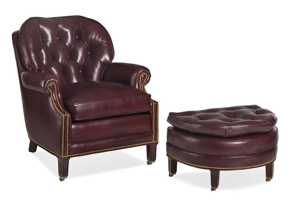 Hancock and Moore - Richmond Chair and Ottoman