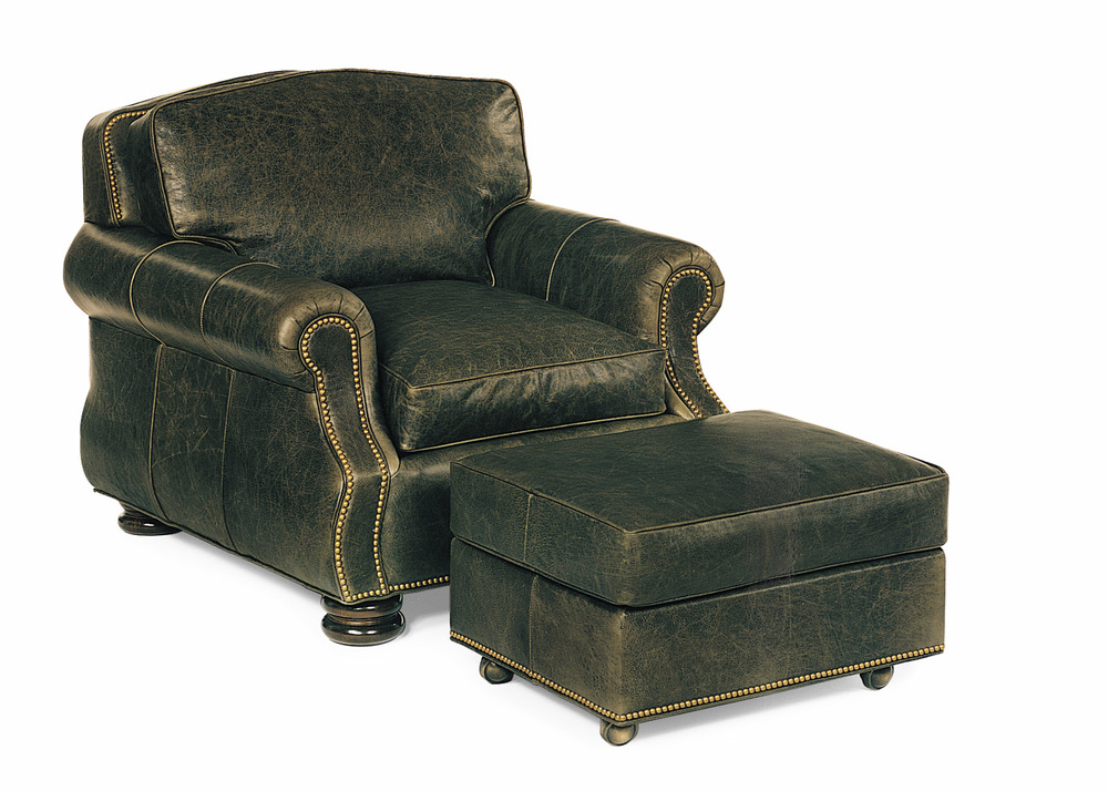 Hancock and Moore - September Chair and Ottoman