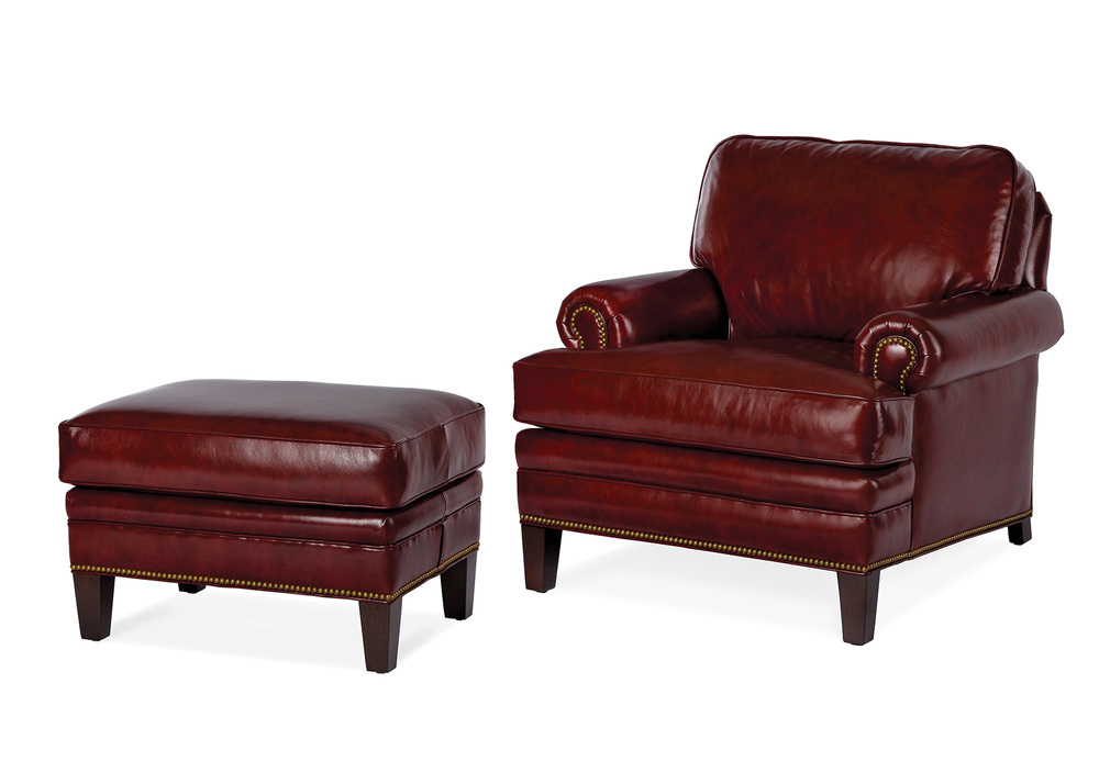 Hancock and Moore - Adair Chair and Ottoman