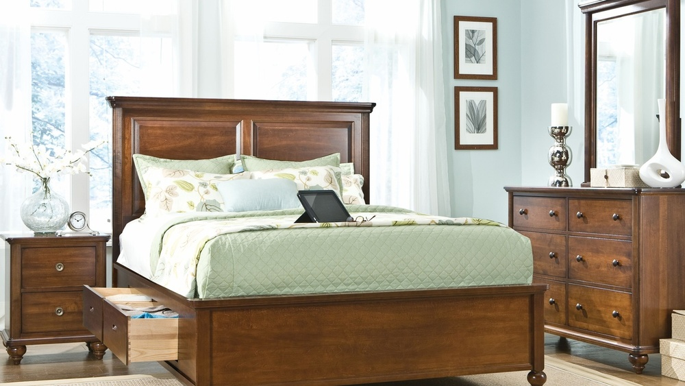 Durham Furniture - Southbrook Panel Bed with Storage