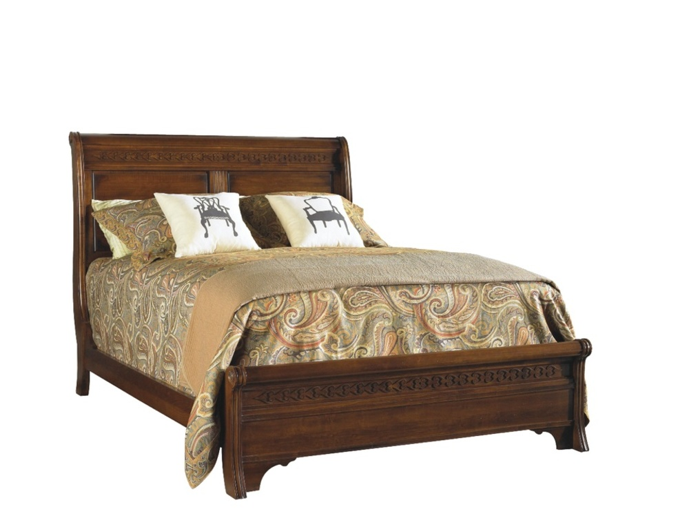 Durham Furniture - Low Sleigh Bed, Queen