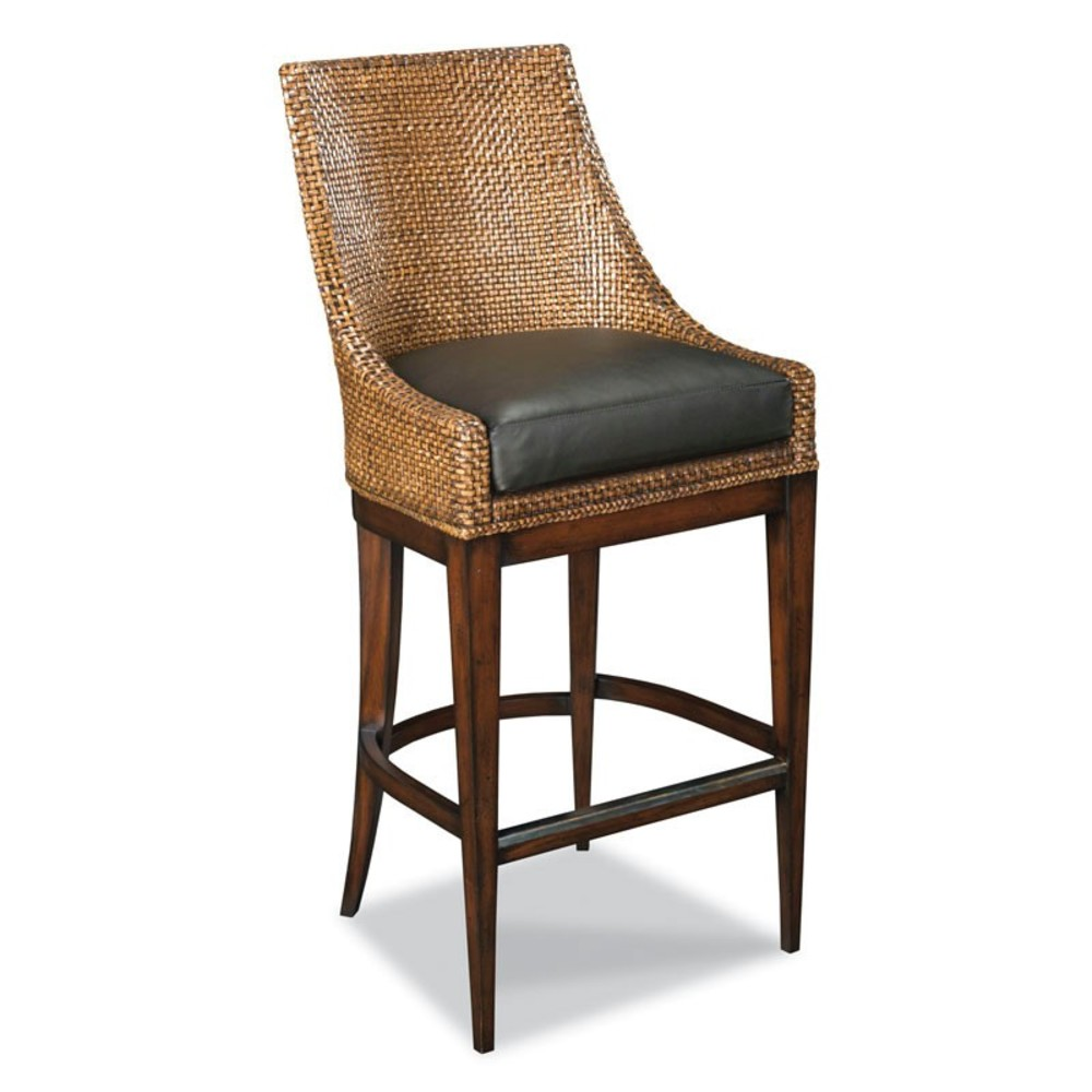 Woodbridge Furniture Company - Woven Leather Counter Stool