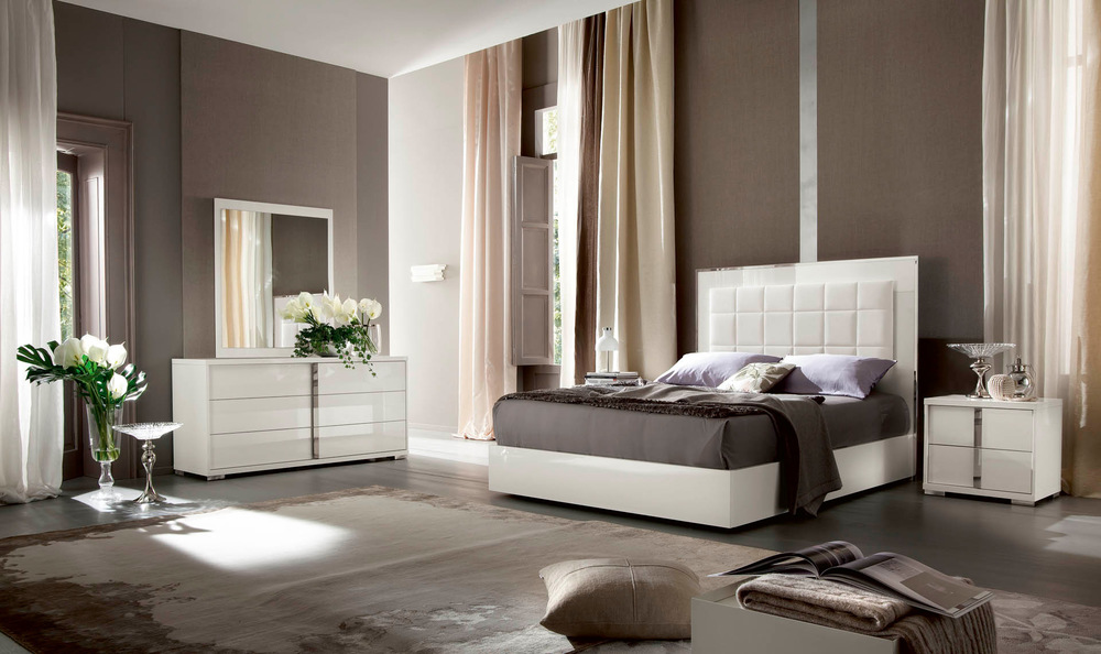 Alf Group - Imperia Bed with Storage and LED Light