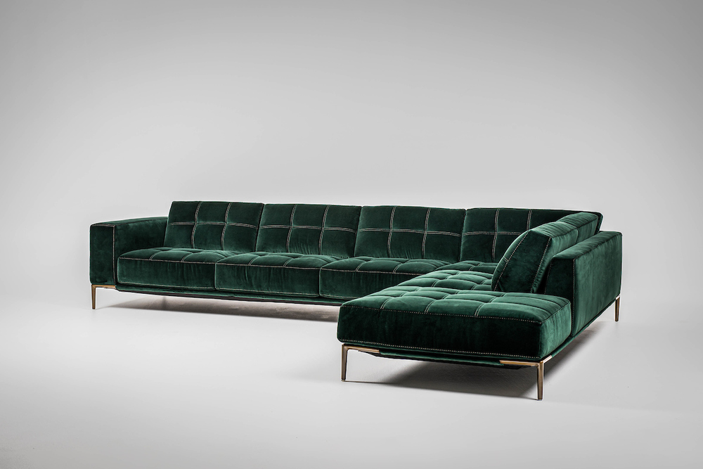 American Leather - Barcelona Two Piece Sectional with Bumper