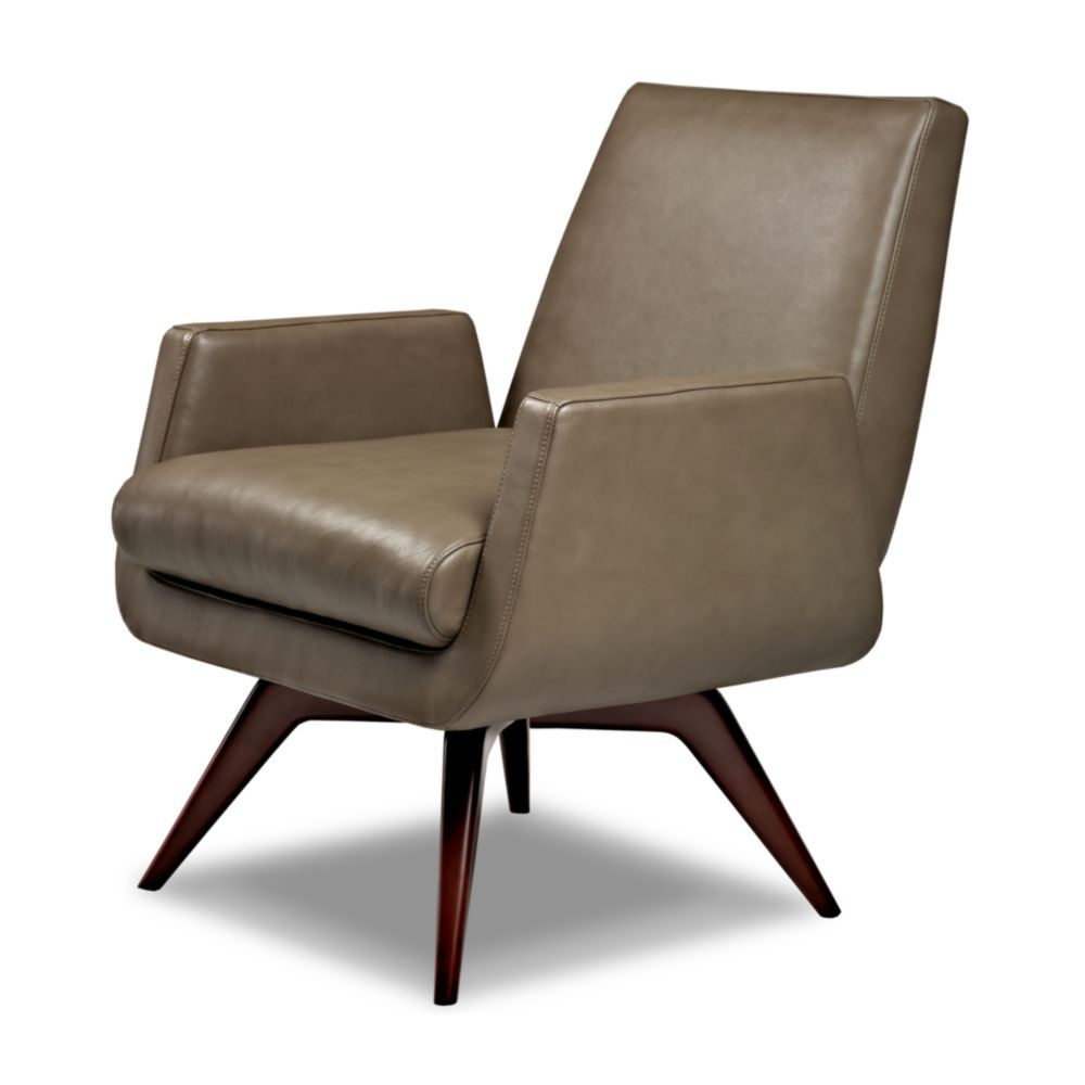 American Leather - Marshall Chair with Swivel Base