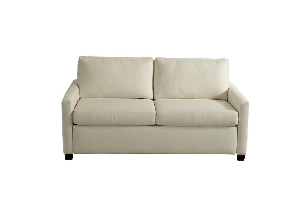 American Leather - Palmer Silver Convertible 2 Seat Sofa, Queen