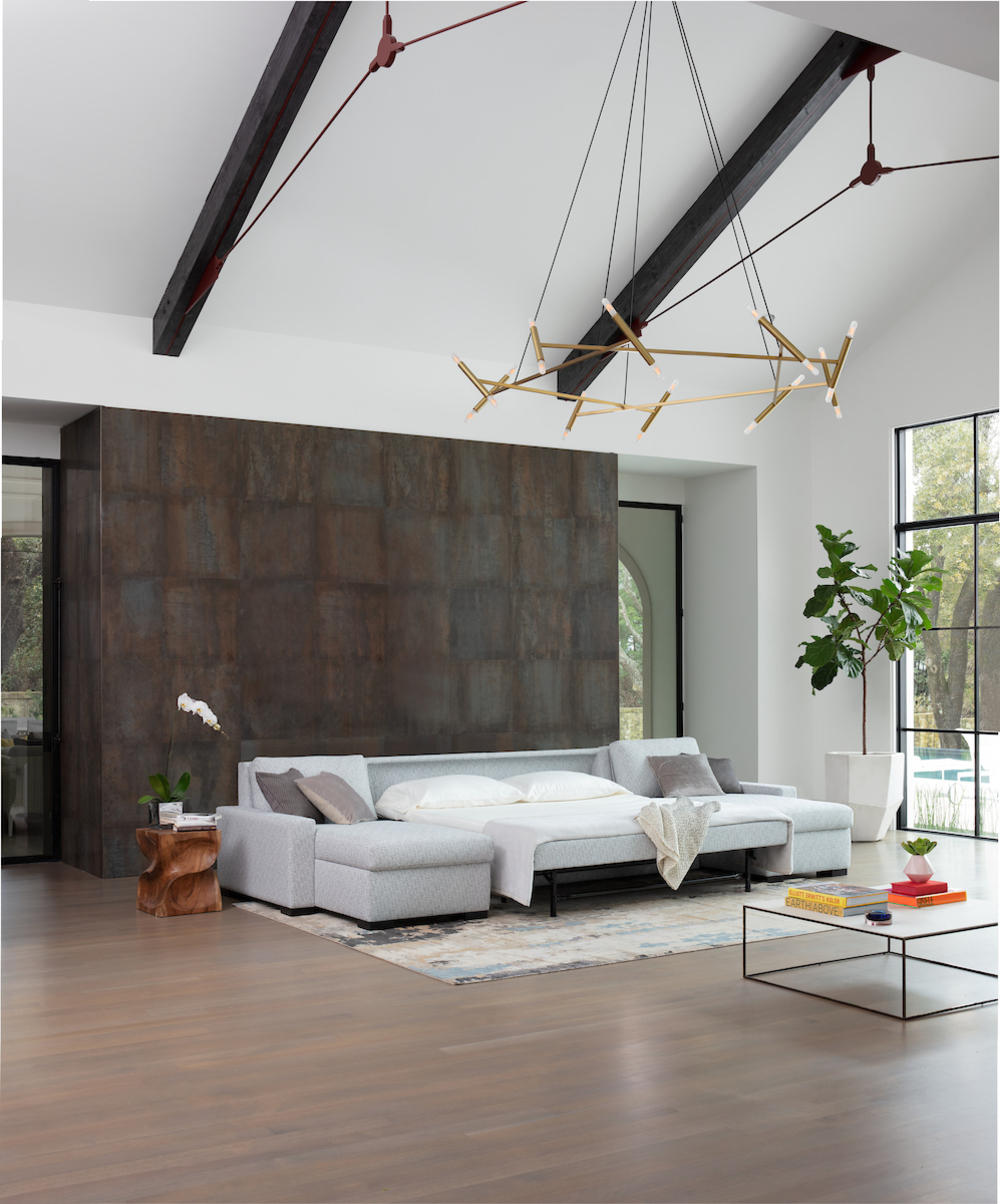 American Leather - Rouge Three Piece Sleeper Sectional