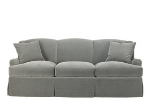 Thumbnail of Mr. and Mrs. Howard by Sherrill Furniture - Winged Sofa, Skirted