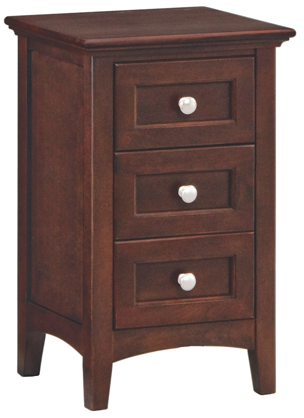 Whittier Wood Furniture - Small Three Drawer Nightstand