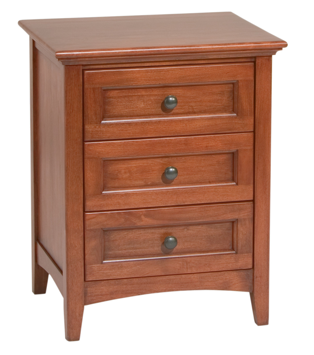 Whittier Wood Furniture - Three Drawer Nightstand