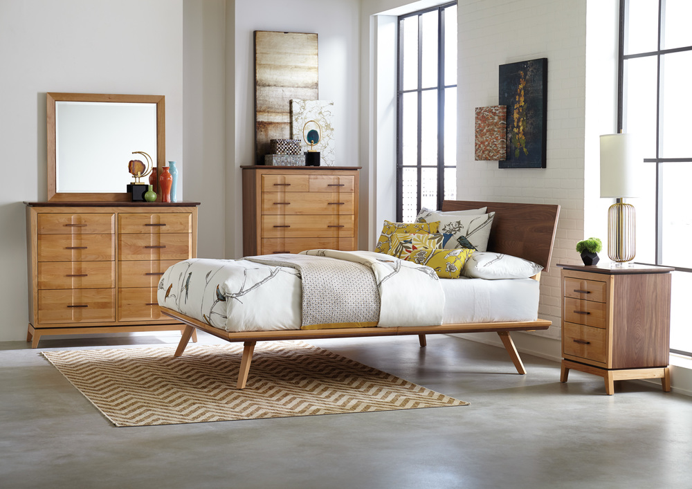 Whittier Wood Furniture - Three Drawer Nightstand