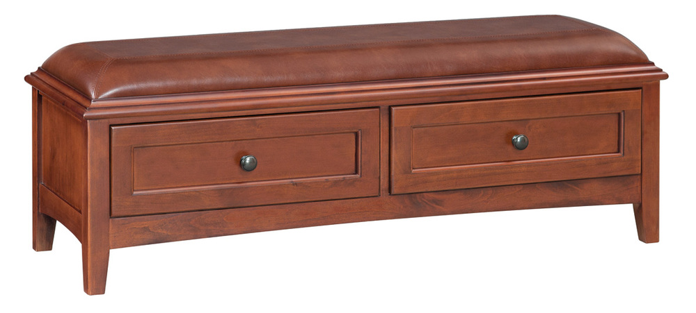 Whittier Wood Furniture - Two Drawer Bench