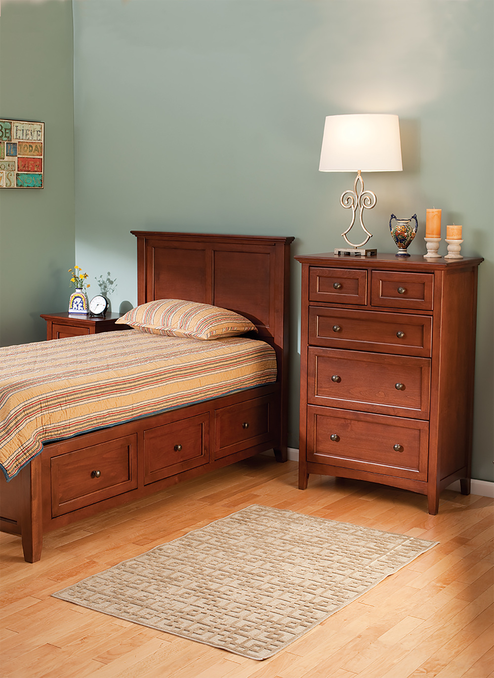 Whittier Wood Furniture - Five Drawer Tall Chest