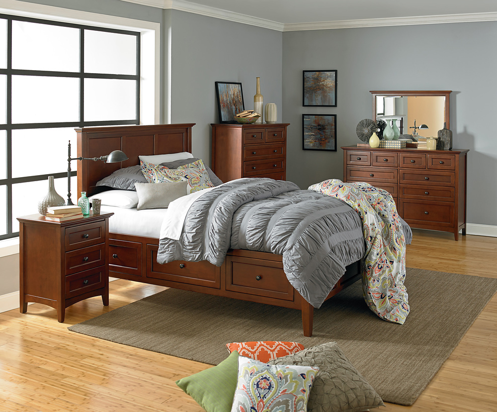 Whittier Wood Furniture - McKenzie Storage Bed