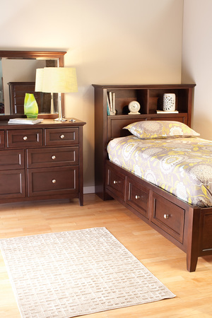 Thumbnail of Whittier Wood Furniture - McKenzie Bookcase Storage Bed