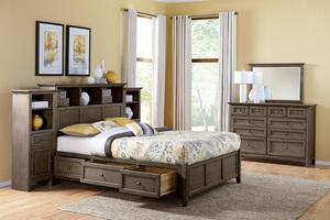 Thumbnail of Whittier Wood Furniture - McKenzie Bookcase Storage Bed