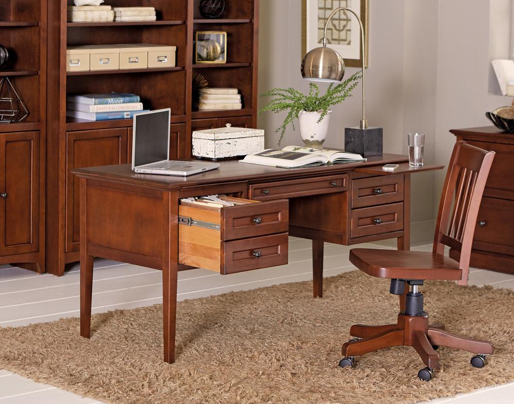Whittier Wood Furniture - Alder Bookcase with Doors