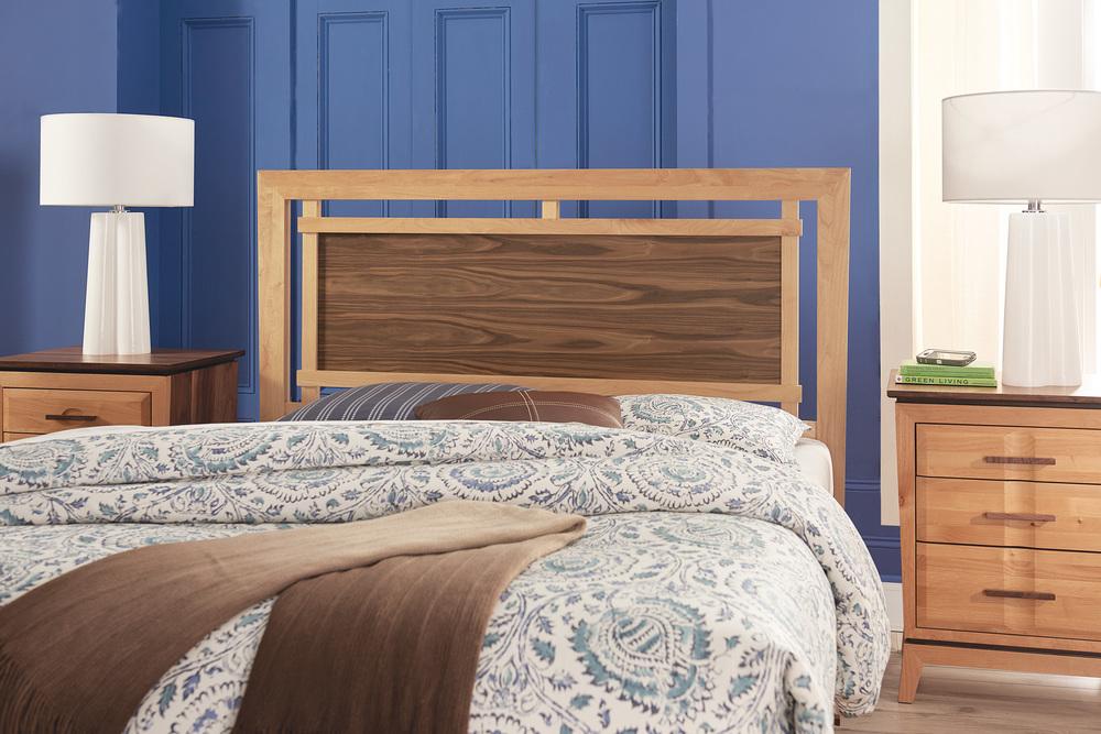 Whittier Wood Furniture - Queen Panel Storage Bed